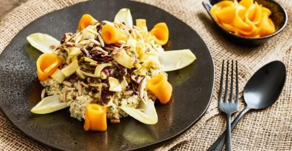 Millet salad with Radicchio and chicory in Mango Dressing