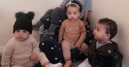 Kim Kardashian Shares Adorable Shot of Kids Chicago & Saint with Cousins Stormi & True: 'Squad'