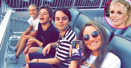 Britney Spears' Sons Look Grown Up at Baseball Game With Aunt Jamie Lynn