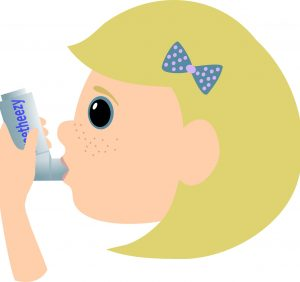 Children with mild asthma can use inhalers as needed