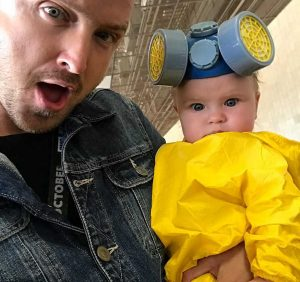 Aaron Paul On Dressing His Baby Up in Breaking Bad Costume for Comic-Con and How He Got the Outfit