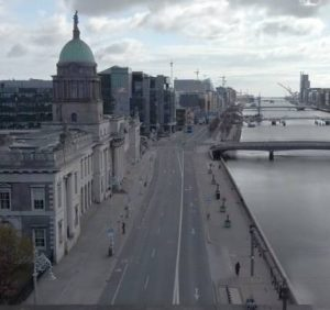 Spooky drone videos from Dublin a Ghost town show