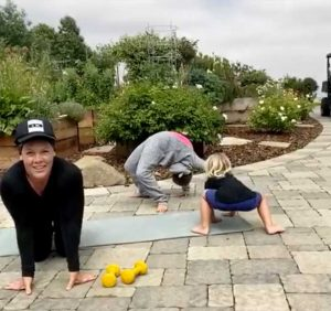 Pink's Daughter Willow, 9, and Son Jameson, 3, Adorably Crash Her Virtual Workout Session