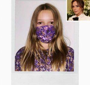 Victoria Beckham's Daughter Harper, 9, Rocks Custom Mask from Mom's Fashion Label: 'So Sweet'